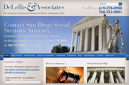 Screenshot of DeLellis and Associates website.