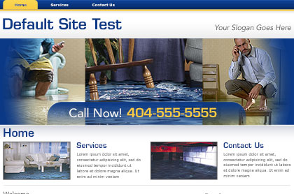 Screenshot of template for Water Damage Restoration